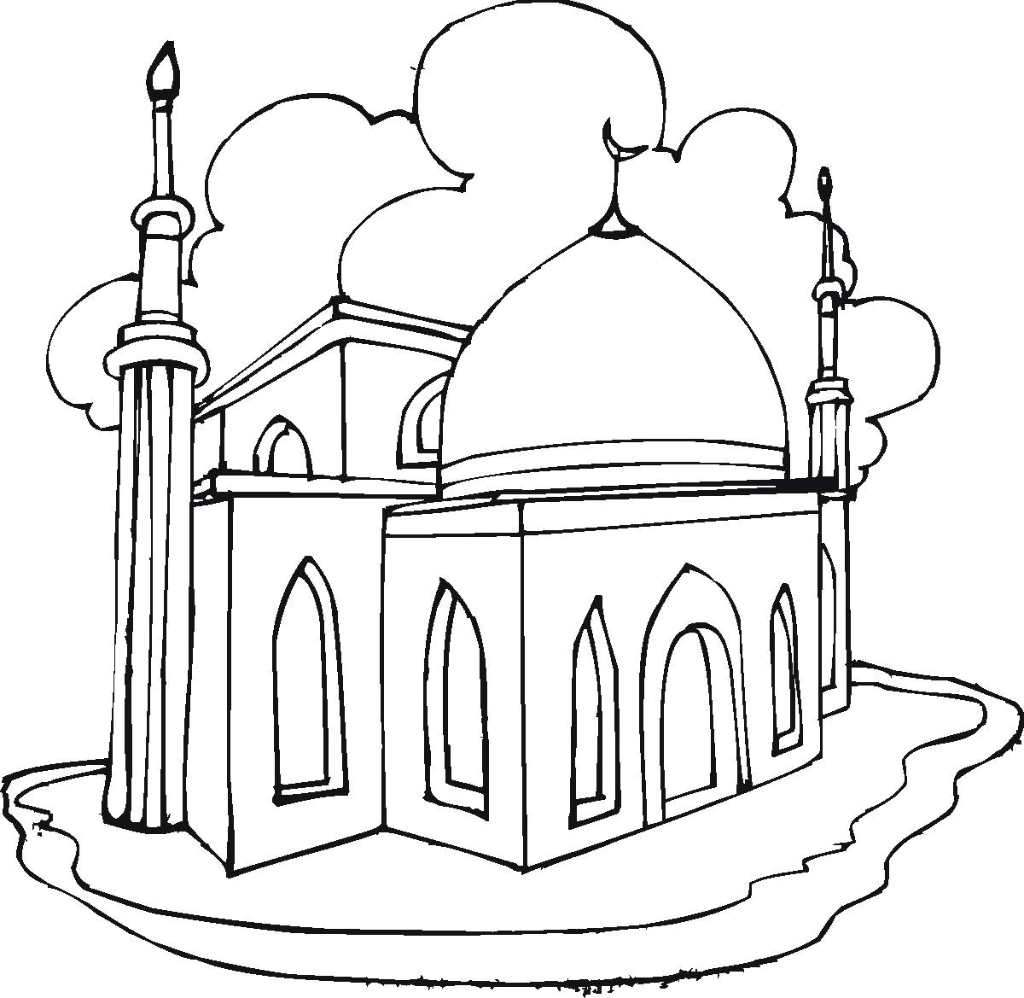 La Mosquee Coloriage Trouve Ta Mosquee