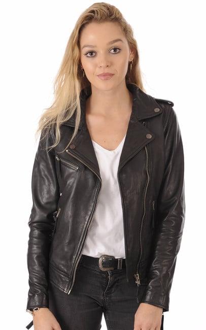 1811f013d5740 Blouson cuir Noir Perfecto pour Femme - La Canadienne ...