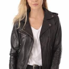 Blouson cuir Noir Perfecto pour Femme – La Canadienne