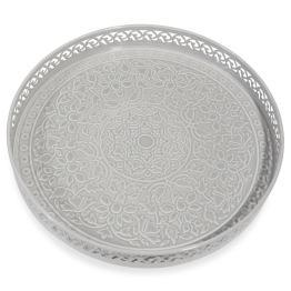 PLATEAU EN METAL GRIS D 31 CM – KAOMA – MAISON DU MONDE