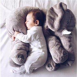 ANIMAL MIGNON ELEPHANT OREILLER THROW COUSSIN DORMIR PELUCHE POUR BEBE ENFANT - KENMONT