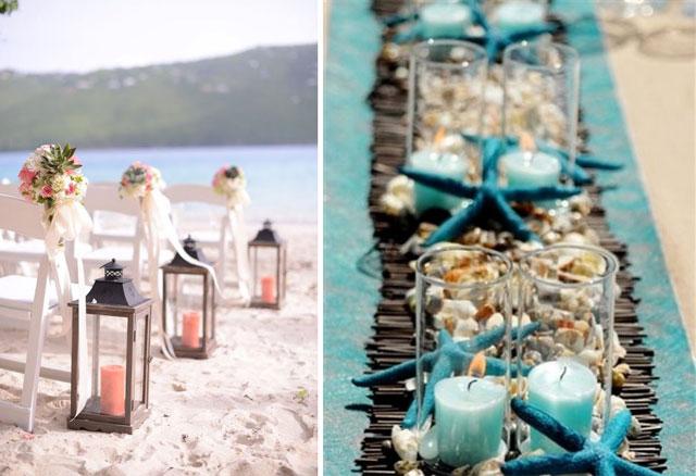 Decoratie voor trouwen op het strand