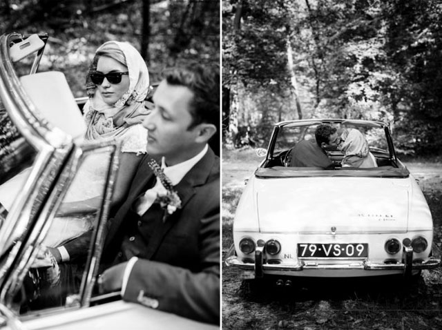 Real wedding Vintage chic