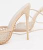 Beige trouwschoenen met diamantjes en enkelbandjes Public Desire