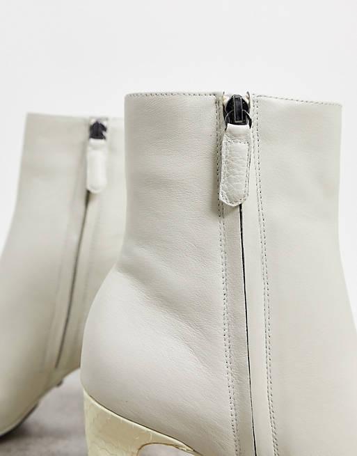 Witte laarsjes Reiss - trouwlaarsjes