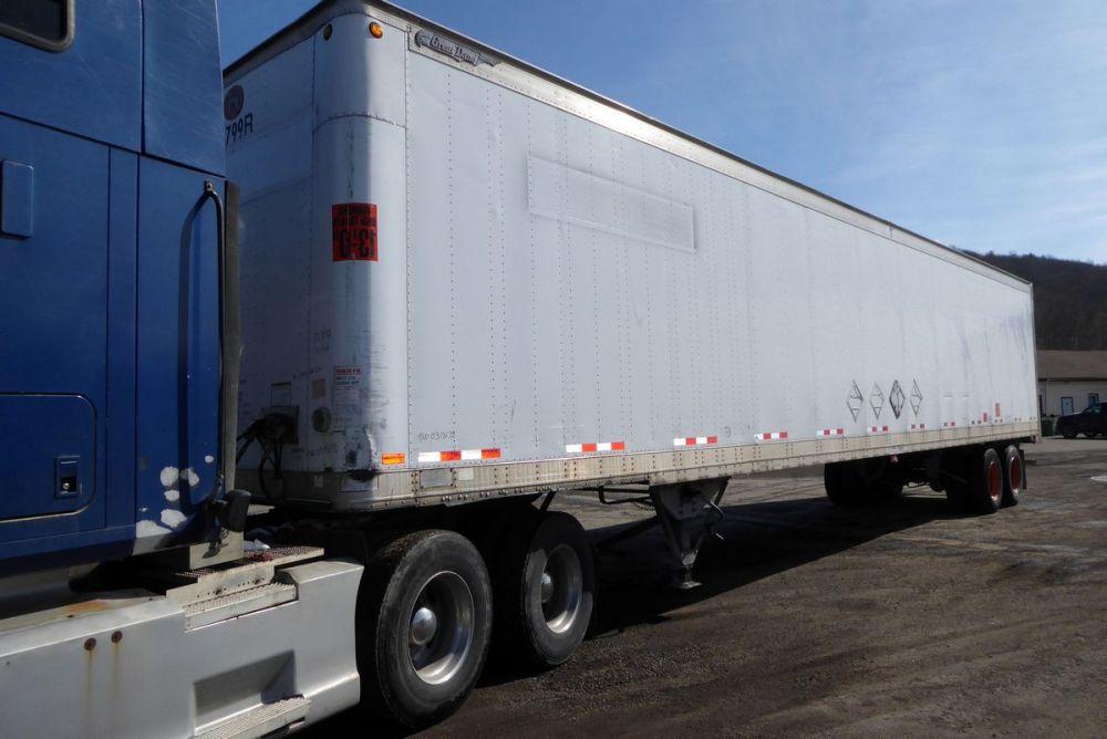 medium resolution of type dry box trailer suspension 4 air bag tires 22 5lp rims 10 bolt hub pilot all steel length 48 width 102