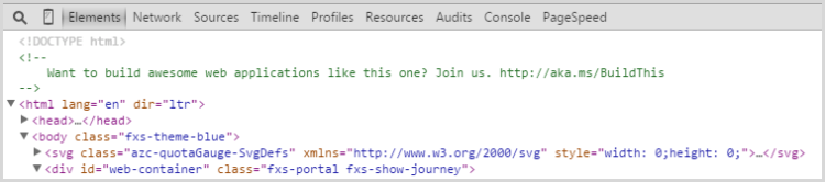 Microsoft Azure's Job Advert hidden in the console