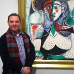 It's me on my birthday with Picasso's Seated Woman, the Museum of Fine Art – Houston.
