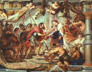 The Meeting of Abraham and Melchizedek by Peter Paul Rubens, Peter Paul Rubens [Public domain], via Wikimedia Commons