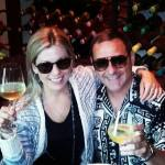 Cheers from La Griglia; Kristy Phillips & Troy Broussard
