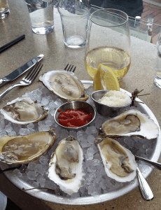 A variety of Damariscotta oysters at Eventide Oyster Co., downtown Portland.