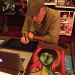 Artist John Mavroudis at work
