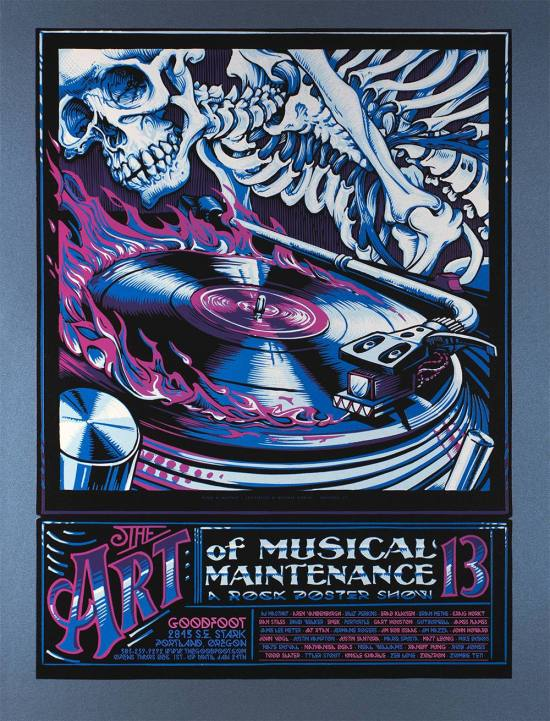 The Art of Musical Maintenance 13, show poster by A.J. Masthay