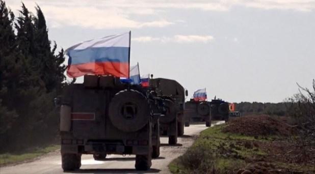 Rusya, Suriyenin kuzeyinde yeni güzergahında devriye yaptı