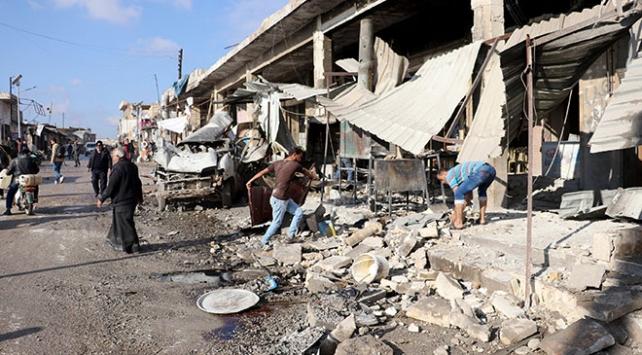 İdlibde hava saldırıları sürüyor: 11 ölü, 20den fazla yaralı