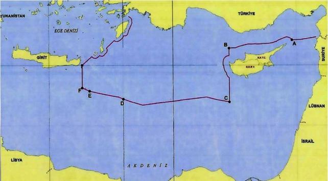 Dışişleri Bakanlığı Türkiyenin Doğu Akdenizdeki kıta sahanlığı ve sınırlarını paylaştı
