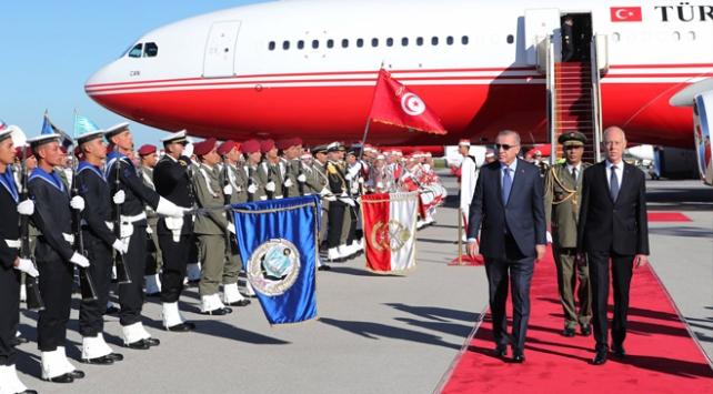 Cumhurbaşkanı Erdoğan Tunusta