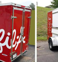 custom built freedom trailer for chick fil a [ 1855 x 693 Pixel ]