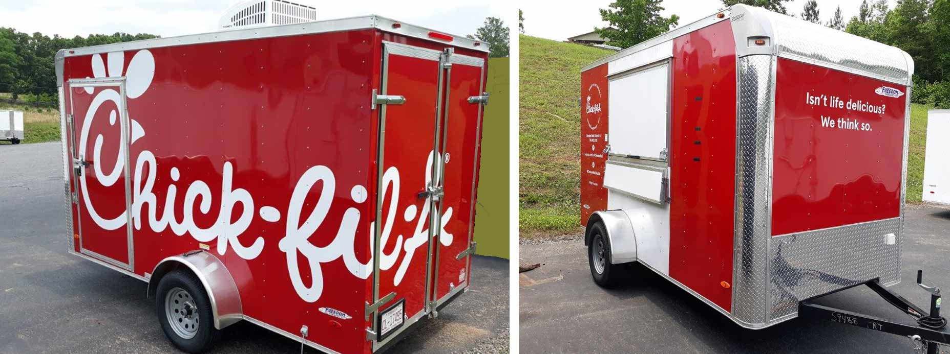 hight resolution of custom built freedom trailer for chick fil a