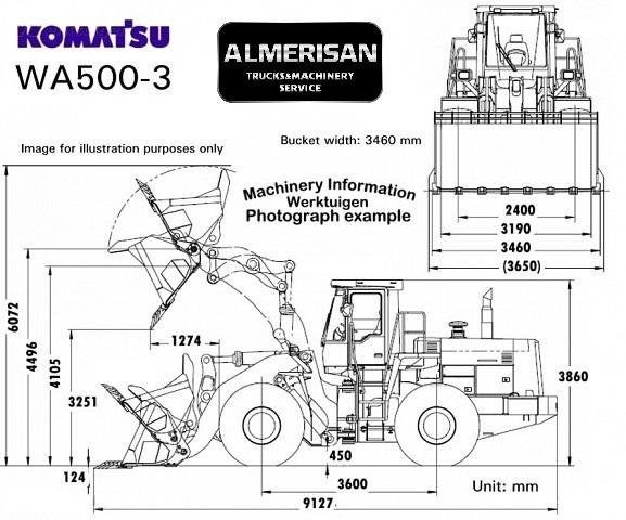 PALA CARGADORA KOMATSU WA500-3 wheel loader from Spain for