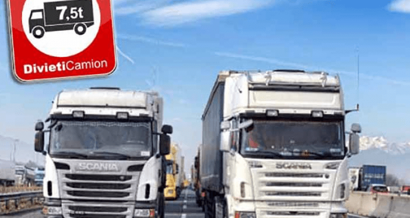 Divieto Circolazione Mezzi Pesanti 2021 Calendario Calendario Divieti 2021 per i mezzi pesanti   Truck24