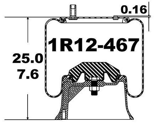 1R12-467 Goodyear Air Spring Rolling Lobe 566-24-3-066