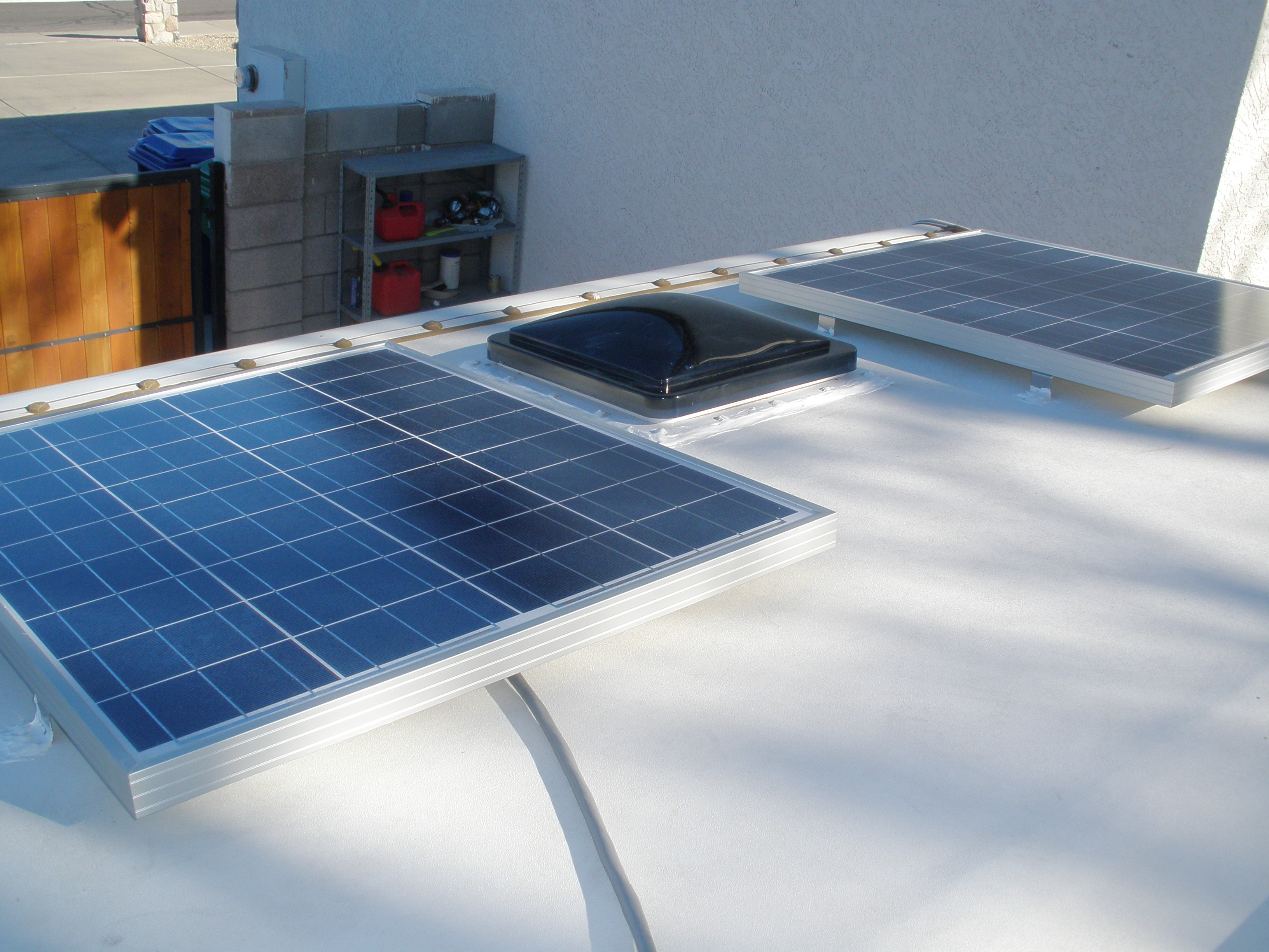 Solar Power Installation Phase Ii Truck Camper Adventure Ford Panel Roof