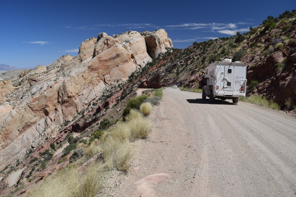 The Burr Trail Scenic Backway - Truck Camper Advenure