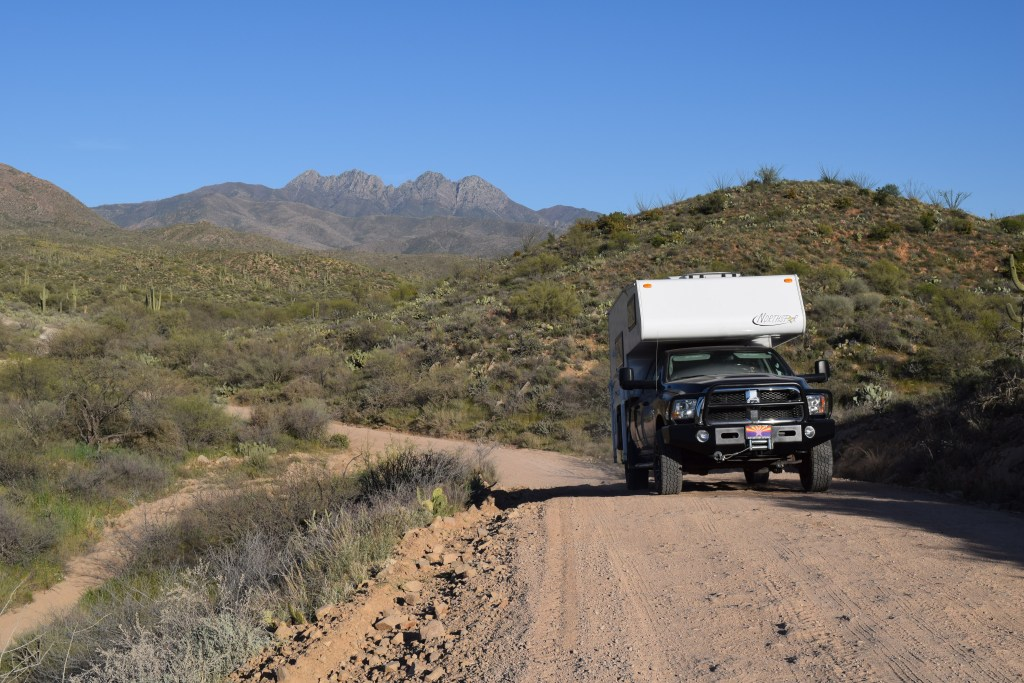 Four Peaks Road, Arizona - Truck Camper Adventure