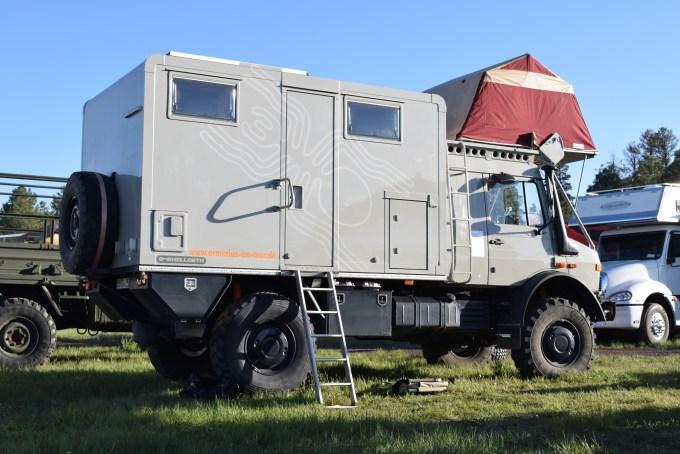 Hellgeth Arminius Unimog U1505L Camper - 2016 Overland Expo - Truck Camper Adventure