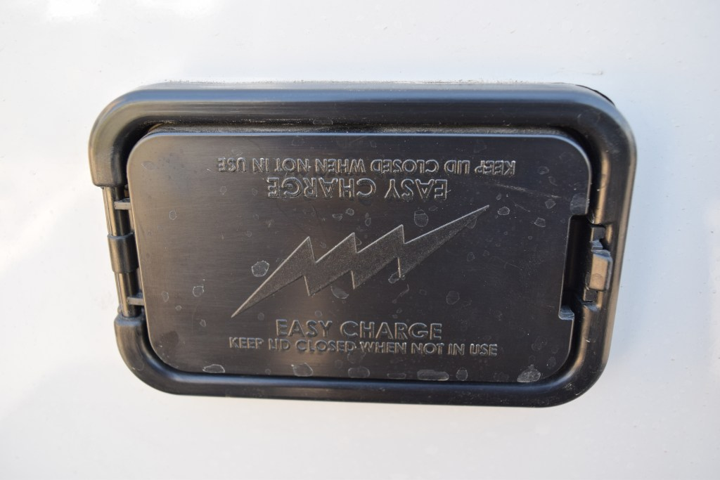 Palomino Camper's Battery Charge Station - Truck Camper Adventure