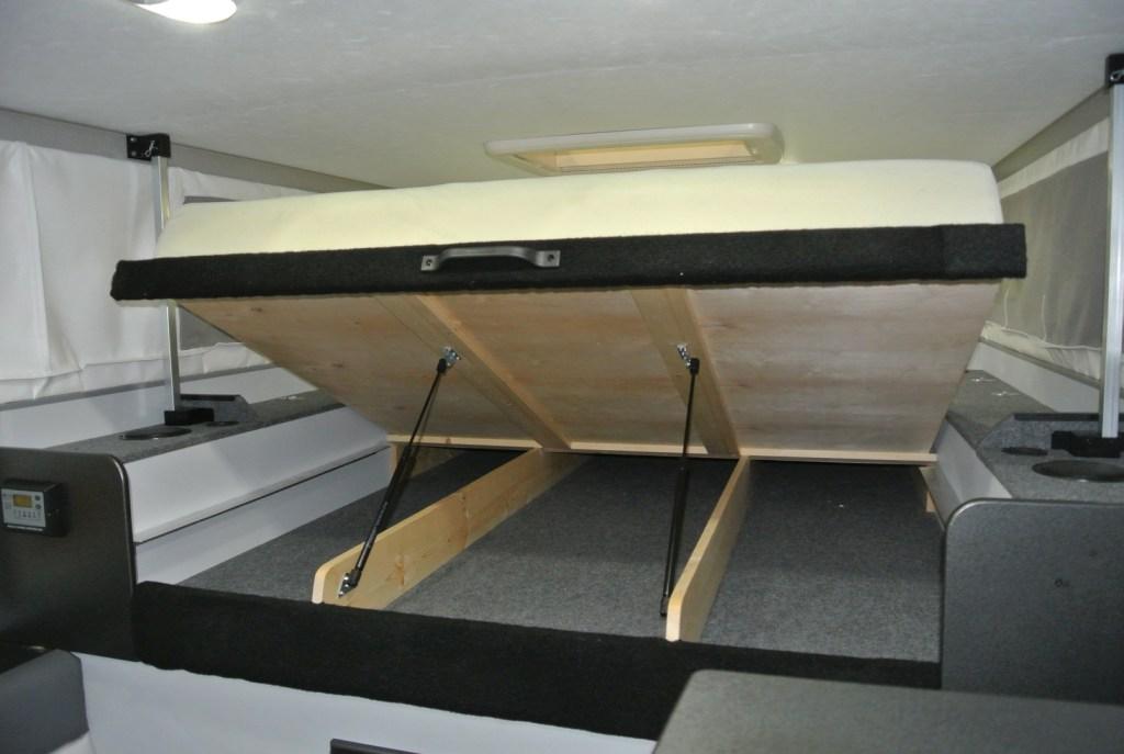 BundutecUSA BunduCamp flip up bed - Truck Camper Adventure