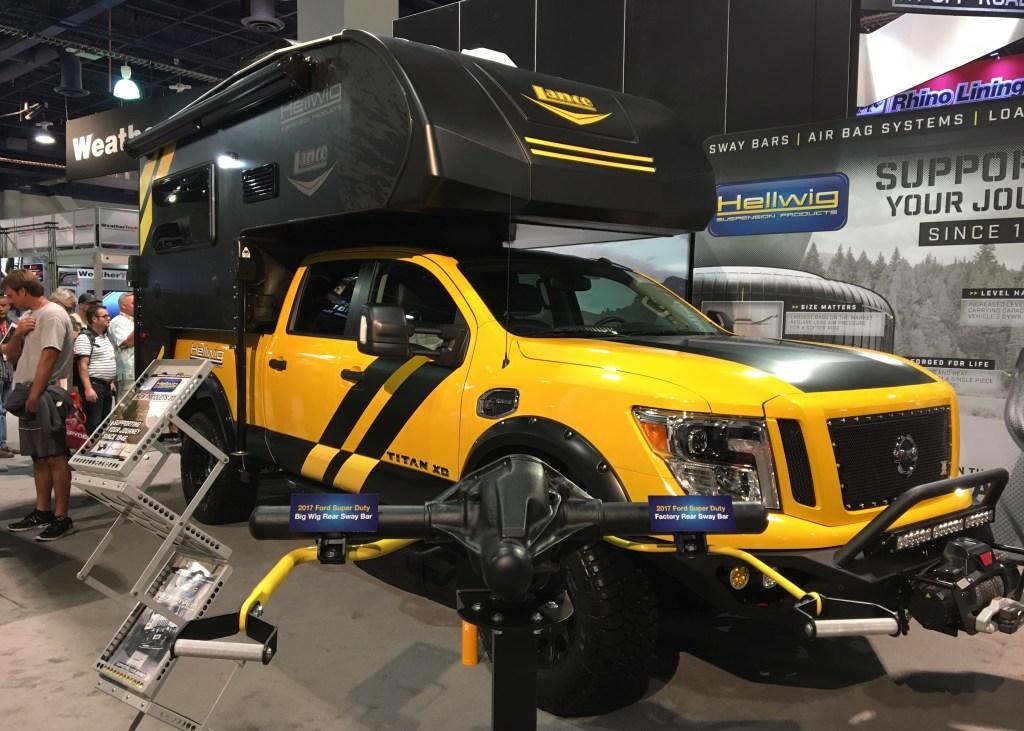 Hellwig-Lance Rule Breaker Adventure Rig (Lance 650) - SEMA Las Vegas 2016 - Truck Camper Adventure