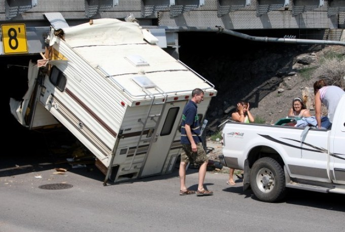 truck camper accident bridge - Truck Camper Adventure