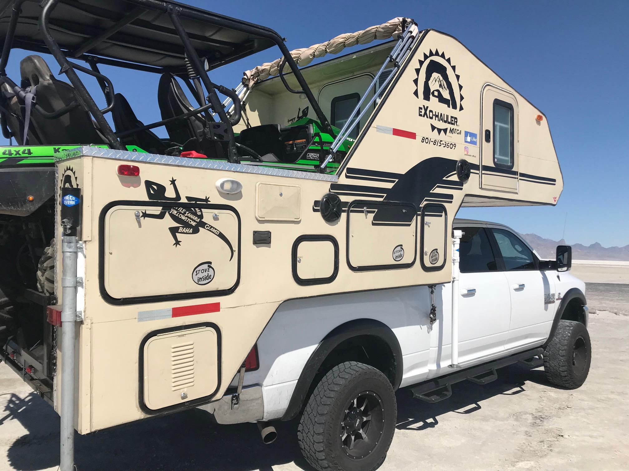 ExoHaul Reveals Revolutionary Toy Hauler Truck Camper