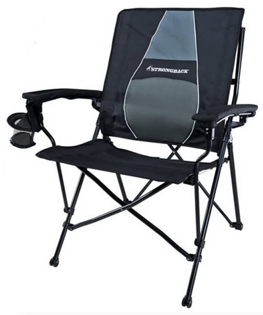 most comfortable folding chair unusual swivel the camping chairs reviewed by campers strongback elite