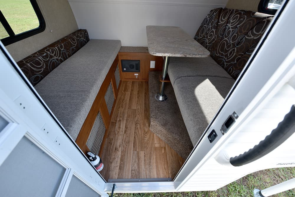 smallest sleeper sofa silent night fusion corner bed 2016 travel lite rayzr - half-ton cabover-less camper