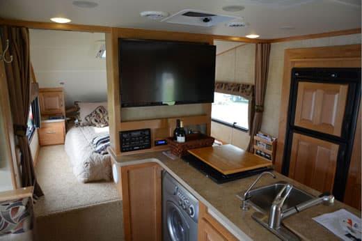 Chalet RV TS116 TripleSlide Truck Camper WasherDryer