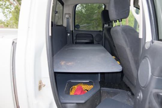 Back Seat Storage Solutions  Truck Camper Magazine