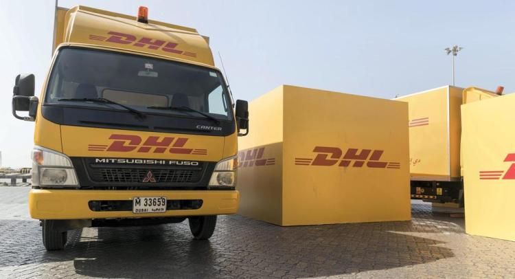 DHL trucks in UAE