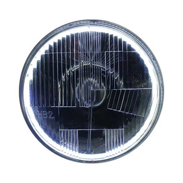 hight resolution of delta lights 7 round chrome led halo factory style composite headlights with parking