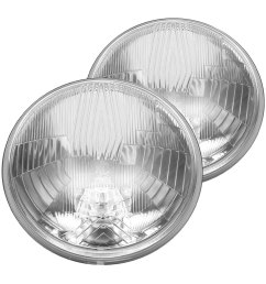 kc hilites 7 round chrome factory style composite headlights [ 1000 x 1000 Pixel ]