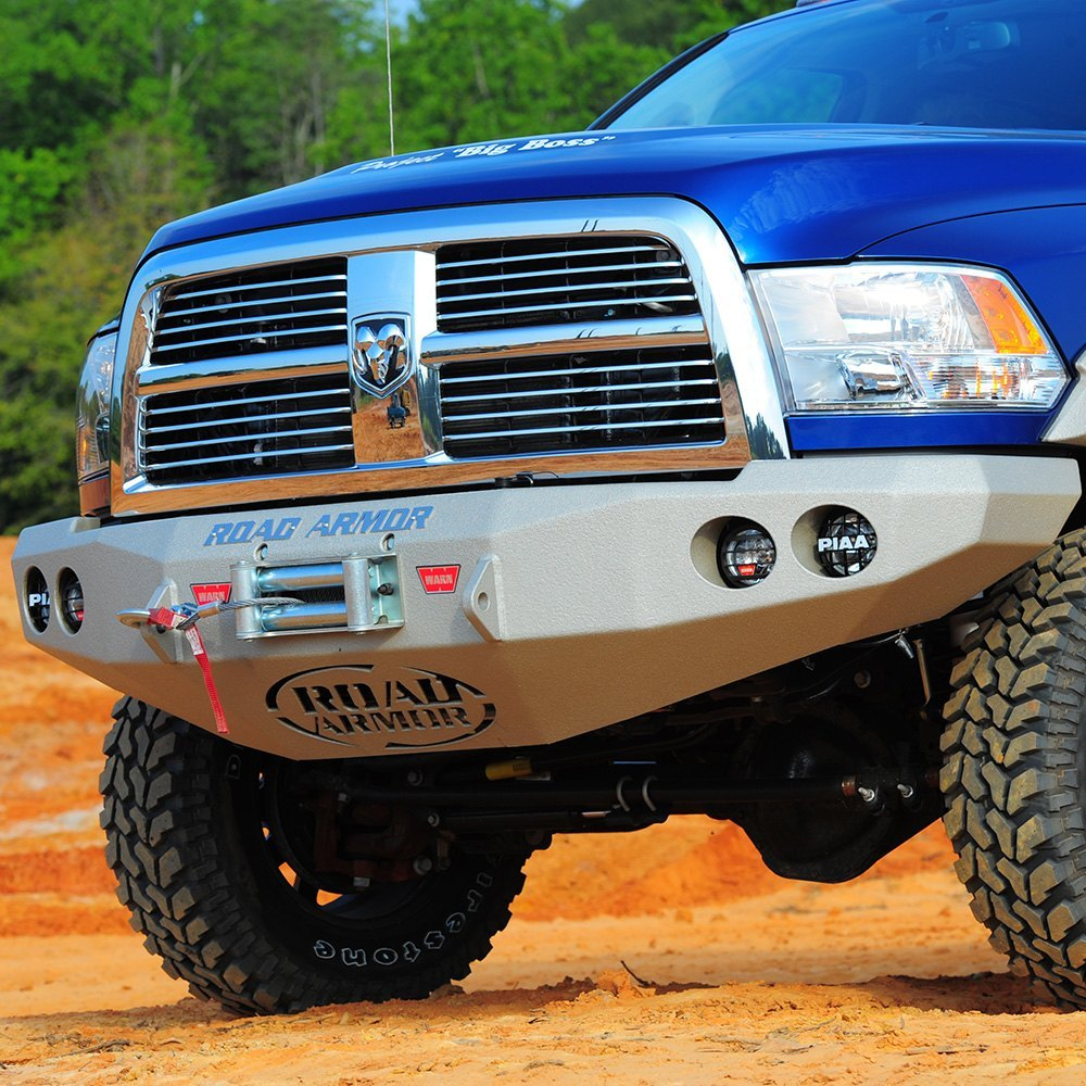 hight resolution of  armor stealth series full width front hd black powder coat bumperroad