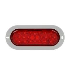 truck lite signal stat 6x2 chrome red rectangular led [ 1500 x 1500 Pixel ]
