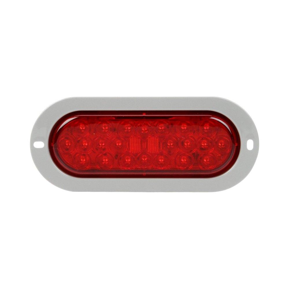 medium resolution of truck lite signal stat 6x2 chrome red rectangular led