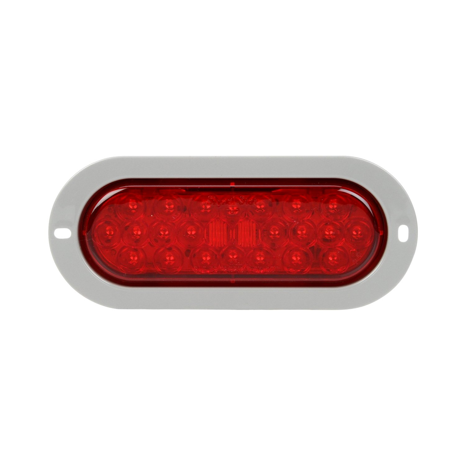 hight resolution of truck lite signal stat 6x2 chrome red rectangular led