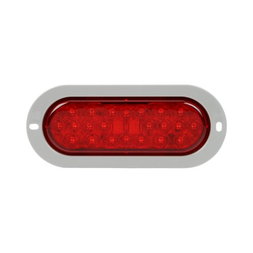 small resolution of truck lite signal stat 6x2 chrome red rectangular led