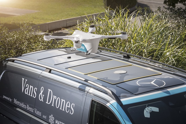Image result for Mercedes-Benz Launches Van-Based Drone Delivery Pilot Program