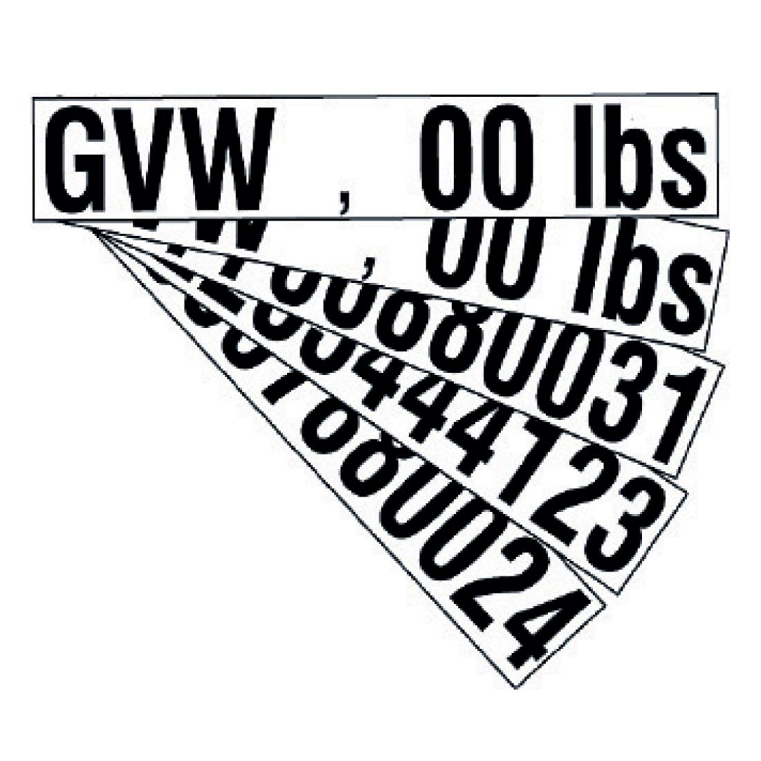 Gross Vehicle Weight Decal Set