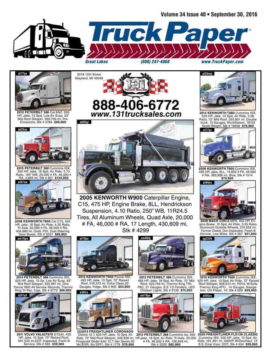 hight resolution of reproduction of material appearing in truck paper is strictly prohibited without express prior written consent truck paper is a registered trademark of